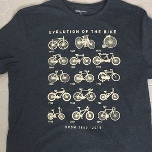 "Banana Republic Blue ""Evolution of the Bike Tee"
